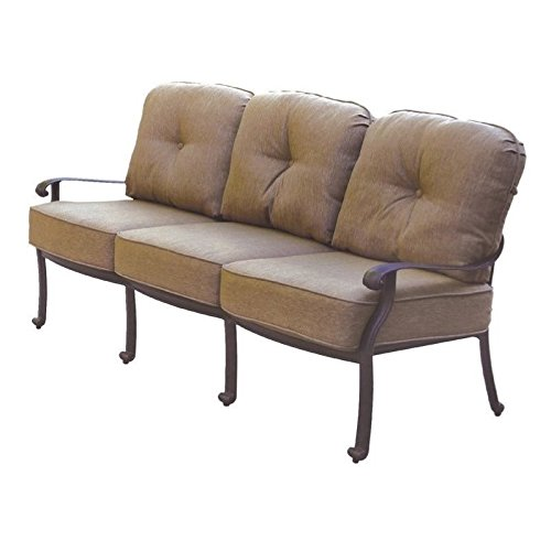 Darlee Elisabeth Patio Sofa with Cushion in Antique -