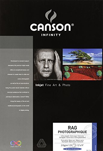 Canson Infinity Rag Photographique Fine Art Paper, 310 Gram, 13 x 19 Inch, 25 Sheets