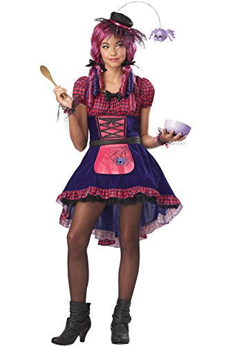 [California Costumes Along Came a Spider Tween Costume, X-Large] (Goth Costumes For Tweens)
