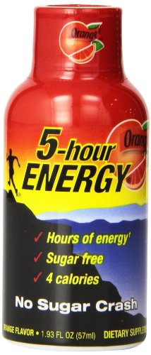 5 Hour Energy Shot, Orange, 24 Count