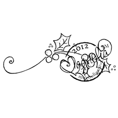 Magnolia A Christmas Story Cling Stamp, 1 by 2-Inch, Holly Swirl