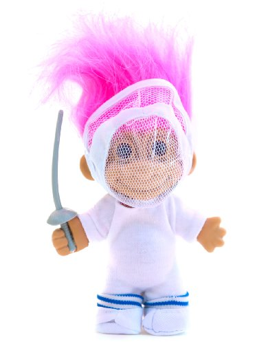 (My Lucky Fencing Troll Doll - Fusia Hair by Russ Berrie)