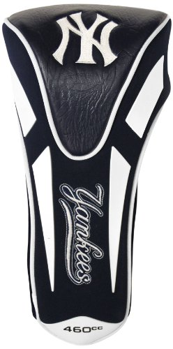 (Team Golf MLB New York Yankees Golf Club Single Apex Driver Headcover, Fits All Oversized Clubs, Truly Sleek Design)