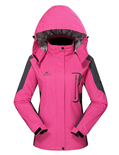 Diamond Candy Outdoor Jacket Women Waterproof Hiking Jackets Soft Shell Wind Raincoat with Hood Lightweight for Ski Travel