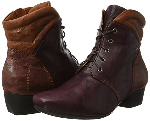 Think kombi Boots wine Rouge Femme Desert Karena 33 18wO1H