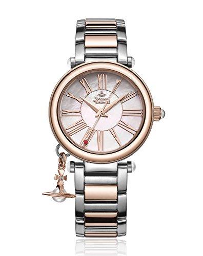Vivienne Westwood Women's VV006PRSSL Orb Mother of Pearl Rose Analog Display Swiss Quartz Silver Watch