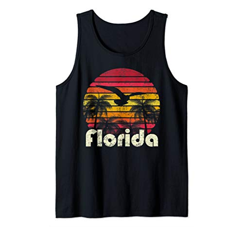 Florida Womens Tank Top - Vintage Retro Florida Beach Sun 70's 80's Style Gift Mom Dad Tank Top