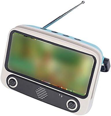 Loudspeaker Cable Aisumi Retro Altavoz portátil Bluetooth Soporte de teléfono móvil TV MP3 Reproductor de música FM Radio Multi-color: Amazon.es: Hogar