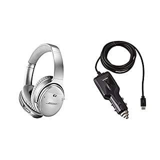 Bose QuietComfort 35 (Series II) Wireless Headphones, Noise Cancelling - Silver with AmazonBasics Car Charger (B076TNGTJH) | Amazon price tracker / tracking, Amazon price history charts, Amazon price watches, Amazon price drop alerts