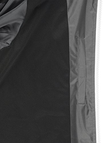Entretiempo Para De Solid Impermeable Mikras Cortaviento Capucha Chaqueta Con Grey Hombre Dark RqawtxnY