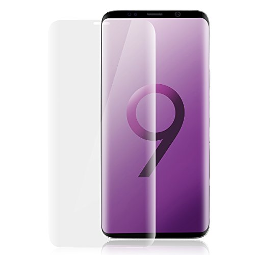 Galaxy S9 Plus Screen Protector Tempered Glass, AICase [3D Curved Edge][Full Frame] Full Coverage Edge to HD Ultra Clear 9H Hardness Bubble-Free Film for Samsung Galaxy S9 Plus(Clear)