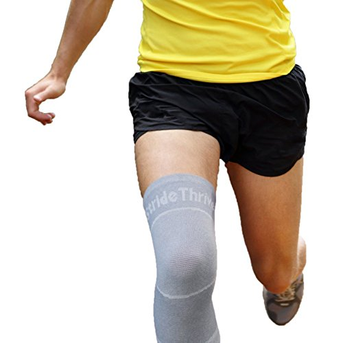 Supportive Knee Sleeve Ladies By StrideThrive: Breathable Volleyball Knee Support With Natural Bamboo Fibres – Knee High Compression Sleeve: Injury Restoration, Joint Pain & Arthritis Aid. – Sports Center Store