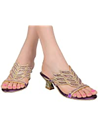 YooPrettyz Open Toe Sandal Low Chunky Heel Comfort Wedding Prom Party Sandal Heels