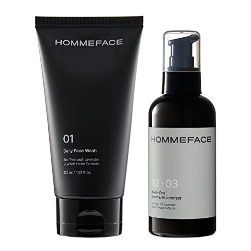 HOMMEFACE Easy Duo Skin Care Set for Men, 2-Step Routine