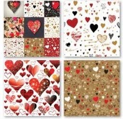 by Reminisce 12x12 Scrapbook Papers Set of 2 Graffiti Valentine Heart