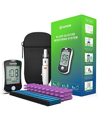 AUVON DS-W Blood Sugar Kit (No Coding Required), High-Tech GDH Diabetes Blood Glucose Meter with 100...