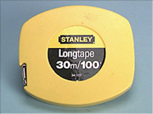 Stanley STA034107 Closed Case Steel Tape, Dual Scale, 30m Length x 9-1/2mm Width (Stanley Measure Case Steel Tape)