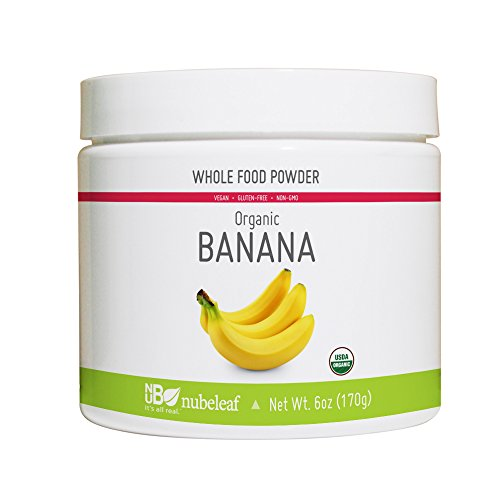 Nubeleaf Banana Powder - Non-GMO, Gluten-Free, Organic, Vegan Source of Fiber & Vitamins A, C, B6- Single-Ingredient Nutrient Rich Superfood for Cooking, Baking, Smoothies (6oz)
