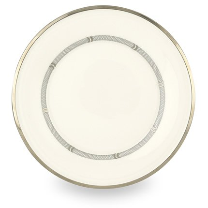 Lenox Solitaire White Platinum Banded Bone China 9 Accent Plate