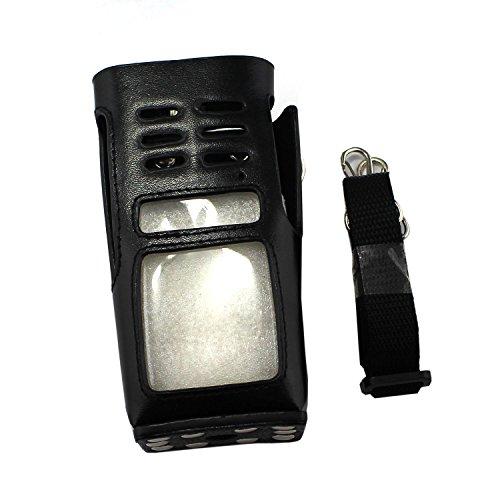 GoodQbuy® Universal Hard Leather Carrying Radio Case Holder for Kenwood/Yaesu/Icom/Motorola GP338 GP328 GP339 GP340 GP360 GP380 GP680 MTX8250 TH750 TH1250 Walkie talkie CB Ham Radio Leather Universal Radio