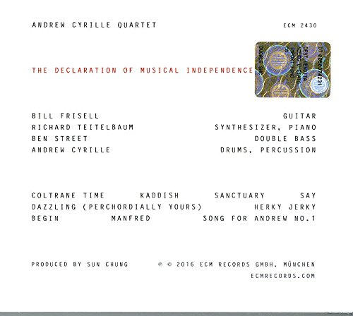 andrew cyrille quartet andrew cyrille bill frisell richard teitelbaum ben street the declaration of musical amazoncom music - The Declaration Of