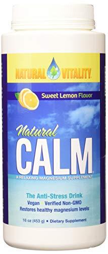 Natural Vitality Calm, The Anti-Stress Dietary Supplement Powder, Lemon - 16 Ounces (Best Otc Sleeping Pills For Insomnia)