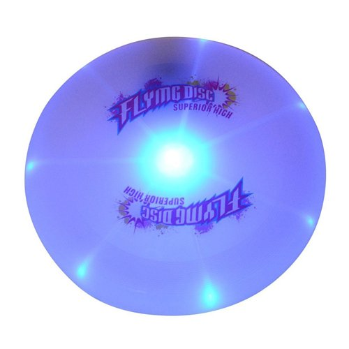 Flying Disc CFTech Ultimate LED Light Up Sport Disc Glow in the Dark Durable and Long Flight, 127 Gram, Diameter 9.8 inch