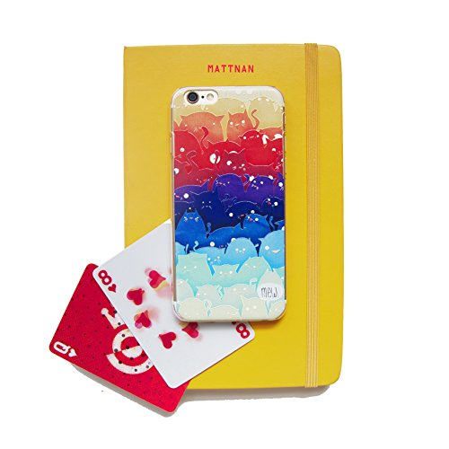 Iphone 6 Case,iphone 6 Cases,iphone 6 Plastic Cases, with Relief Texture for Iphone 6 (4.7) (2014) (Multi-color Cat)