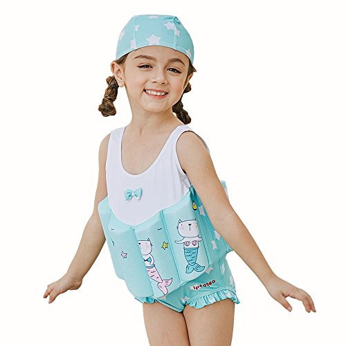 Kingswell Float Suit Toddler Swimsuit Kids Swim Training Aid Jacket Vest Suit with Removable Buoyancy Float for Toddler Girls