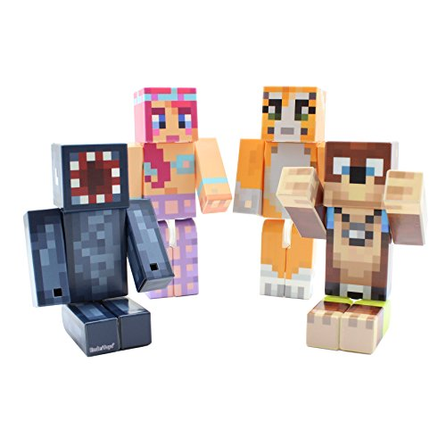 [Magic Animal Club Bundle - 4-inch plastic toy action figure set of 4 by EnderToys] (Ghast Minecraft Costume)