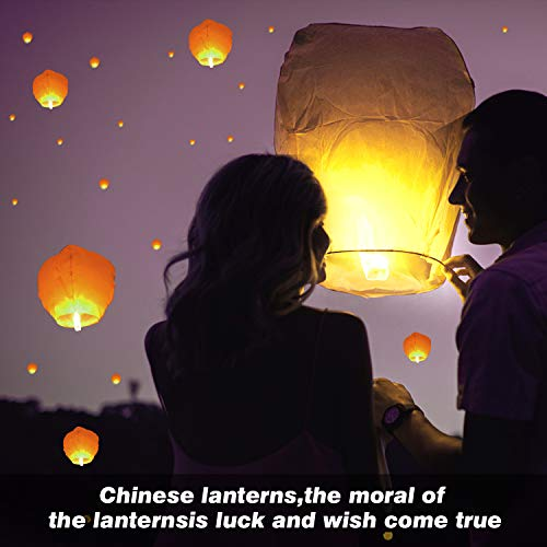 Paper Lanterns, Chinese Lanterns for Weddings, New Year, Festivals, Memorials & More, Japanese Paper Lantern Memorial Paper Lanterns (10 Pack)