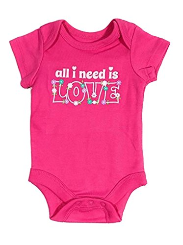 Topsville, Inc. Assorted Love & Heart Boys & Girls Valentines Day Bodysuit Dress Up Outfit (6-9 Months, All I Need Is (Need Love Infant Bodysuit)
