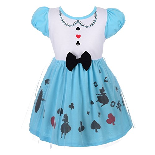 (Dressy Daisy Alice Dress for Little Girls Halloween Fancy Party Costume Dress Size)