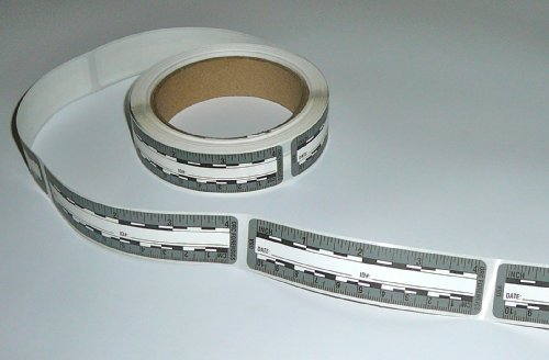 (Ruler – Adhesive Backed Decal on a Roll – Fractional/Metric – 4 Inch (10 Centimeter) Long – Left to Right – 200 per Roll – Gray)
