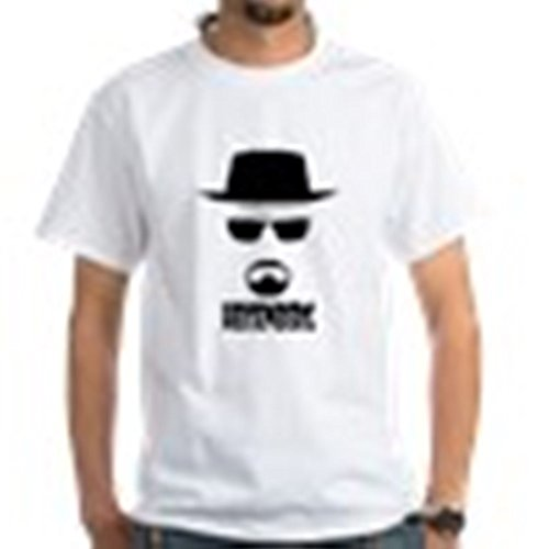 Heisenberg Beard (CafePress - Heisenberg T-Shirt - 100% Cotton T-Shirt, White)