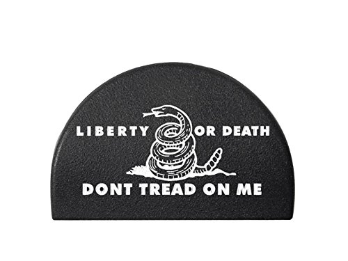 Jentra JP1 for Glock Gen 1-3 Grip Frame Slug Plug Hand-Painted Color Filled White Don't Tread on Me Liberty and Death