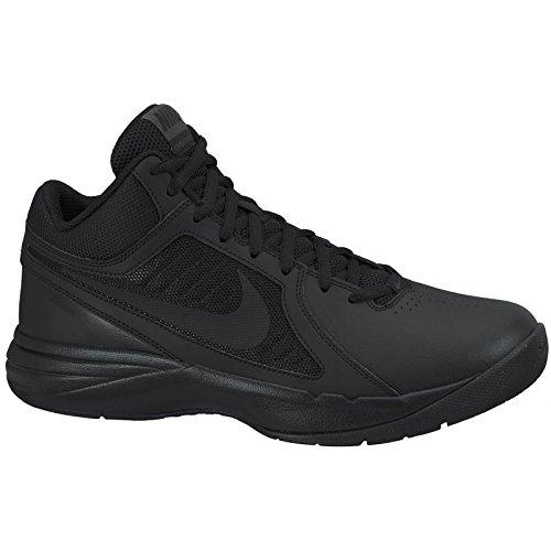Nike Mens The Overplay VIII Basketball Shoe Black/Black/A...