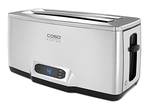 Caso Design INOX.4 Four-Slice Toaster with Wire Warming Basket Attachment, 4, Stainless