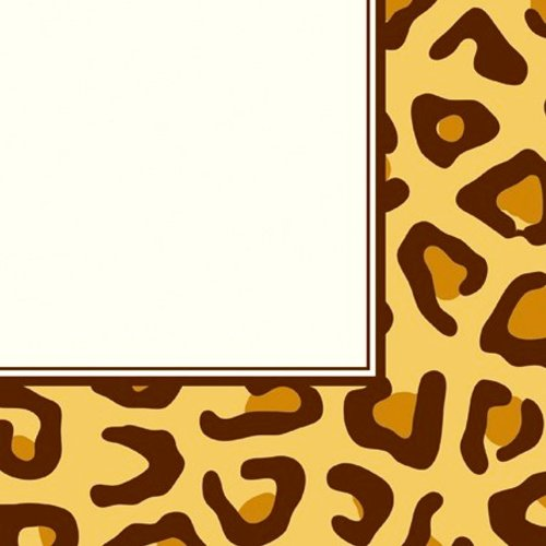 Creative Converting Animal Print Leopard Luncheon Napkins, 16 Count ()