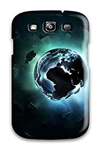 CaseyKBrown Scratch-free Phone Case For Galaxy S3- Retail Packaging - Pixel Earth