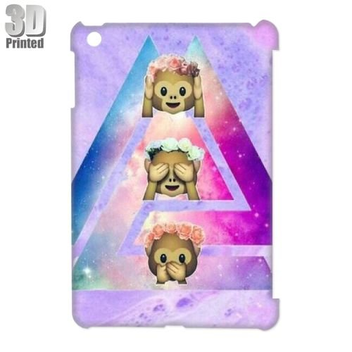 Cute Monkey Personalized 3D Hard Case Cover Protector for iPad Mini