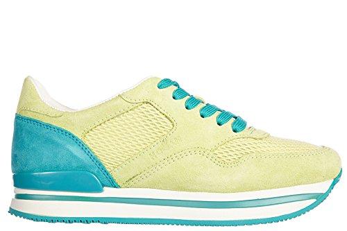 Hogan Zapatos Zapatillas de Deporte Mujer EN Ante Nuevo h222 Vintage Verde