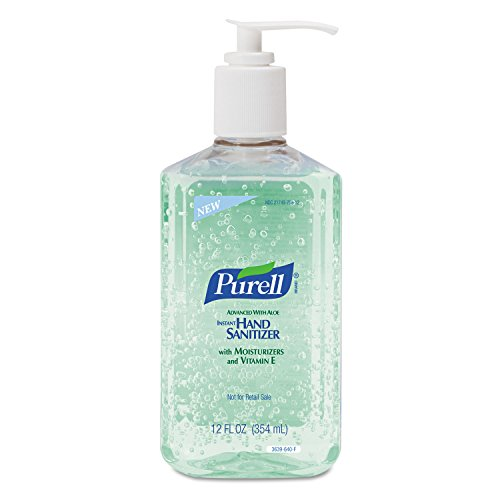 Purell Products - Purell - Instant Hand Sanitizer w/Aloe, 12-oz. Pump Bottle, 12/Carton - Sold As 1 Carton - Stay clean without soap or water! - Kills 99.99% of the most common, illness-causing germs. - Dermatologist-tested, residue-free formula. (Purell 12 Oz Pump Bottle)