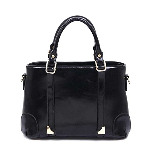 HNYEVE HB1200038C2 Fashion PU Leather Women's Handbag,Square Cross-Section Boston Bag