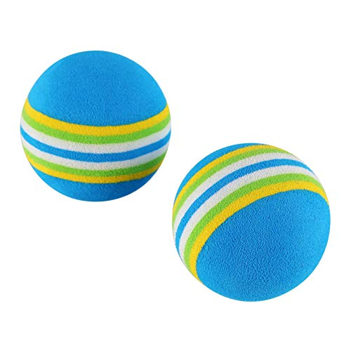 Patgoal 10 Pack Rainbow Soft Foam Play Balls Colorful Ball Toy for Pet Dog Cat (Blue S) by Patgoal (Image #5)