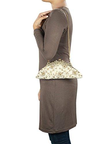 MyBatua Delia borsa metallo di alta qualità fatto a mano incorniciato Pochette ACB-803