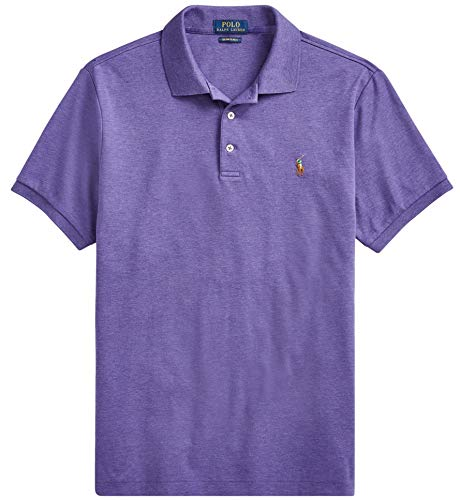 - Polo Ralph Lauren Men Medium Fit Interlock Polo Shirt, WildBerryHtr, XX-Large
