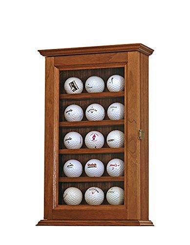 - Golf Ball Display Case- Walnut Hardwood- 15 Golf Balls