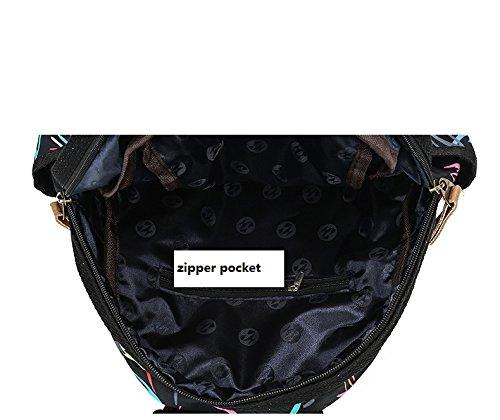 nylon bandoulière main sac à sac grande dos sac imperméable voyage à capacité en sac étudiant dos de à imprimé Femmes sac à B collège wTAqWIHq4B