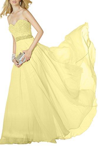 mia La Abendkleider Brau Partykleider Jugendweihe mit Gelb Festlichkleider Perlen Promkleider Traegerlos Kleider Lang 6rqZxdqf